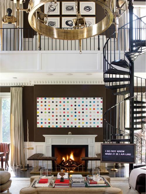 polka dots in sophisticated interiors luis bustamante design studio pop design damien hirst