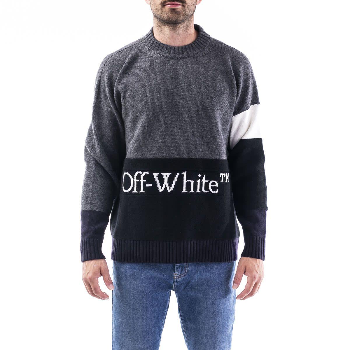 Off White Virgin Wool Sweater Sweaters Wool Sweaters Hooded Shirt [ 1200 x 1200 Pixel ]
