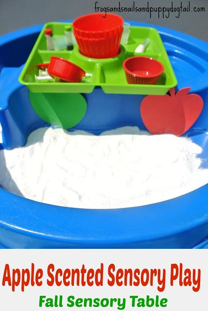 Apple Scented Sensory Play- Fall Sensory Table by FSPDT