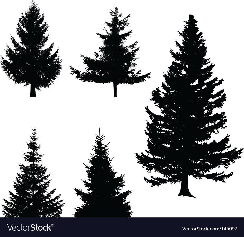 Christmas Tree Royalty Free Vector Image Vectorstock Affiliate Royalty Tree Christmas Free Ad In 2020 Vector Trees Vector Free Free Vector Images