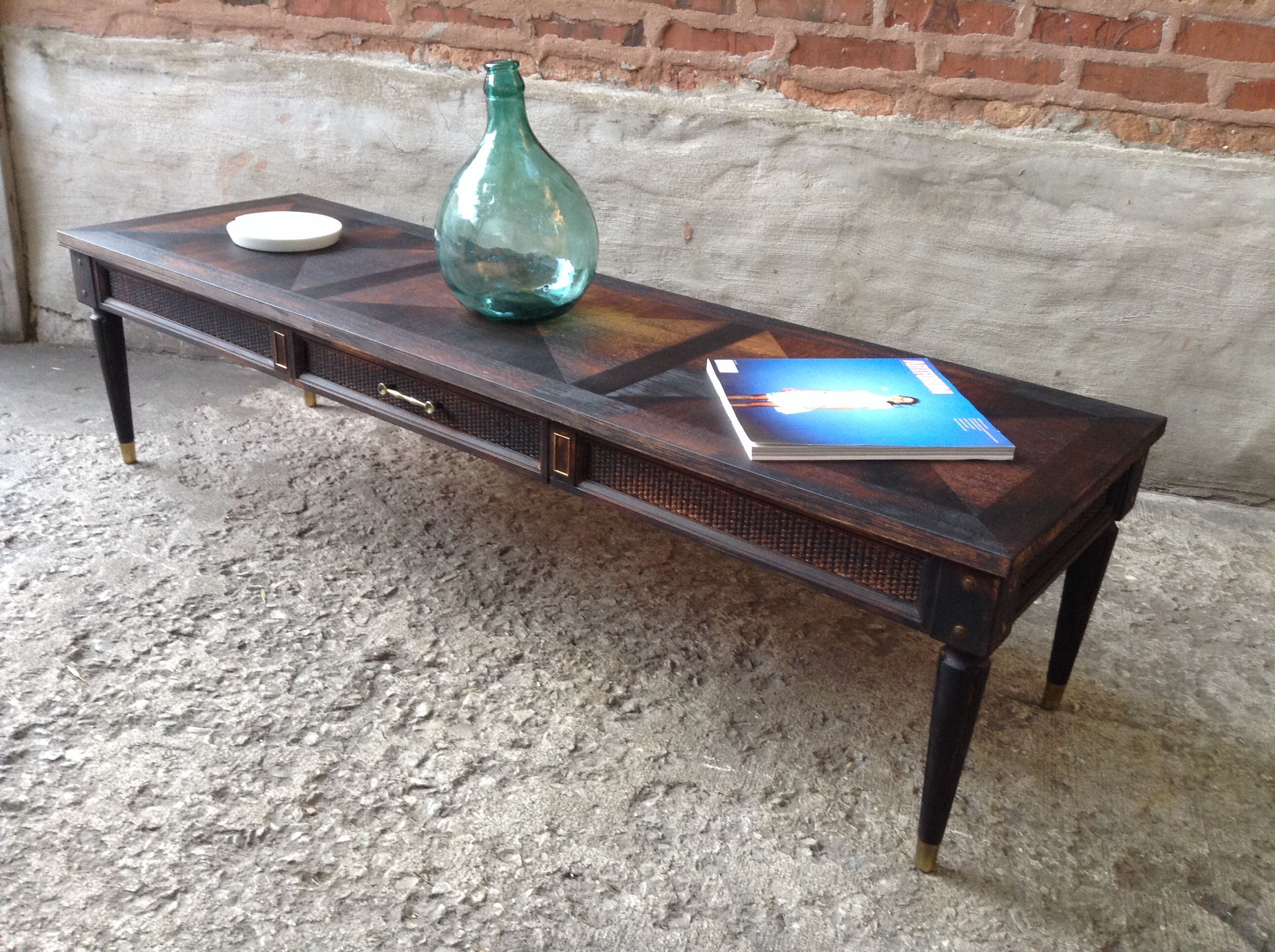 Torched Coffee Table Vintage 1950 Chicago FireCoffee