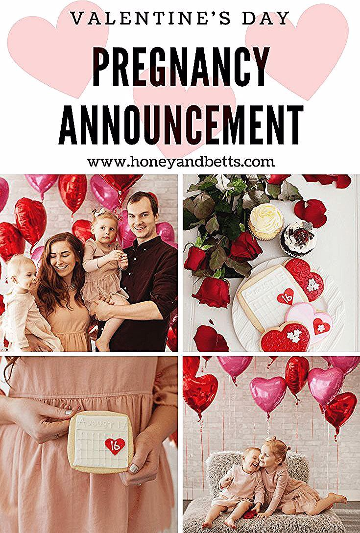 Cute Pregnancy Announcement Valentine's Day IdeasHoney & Betts
