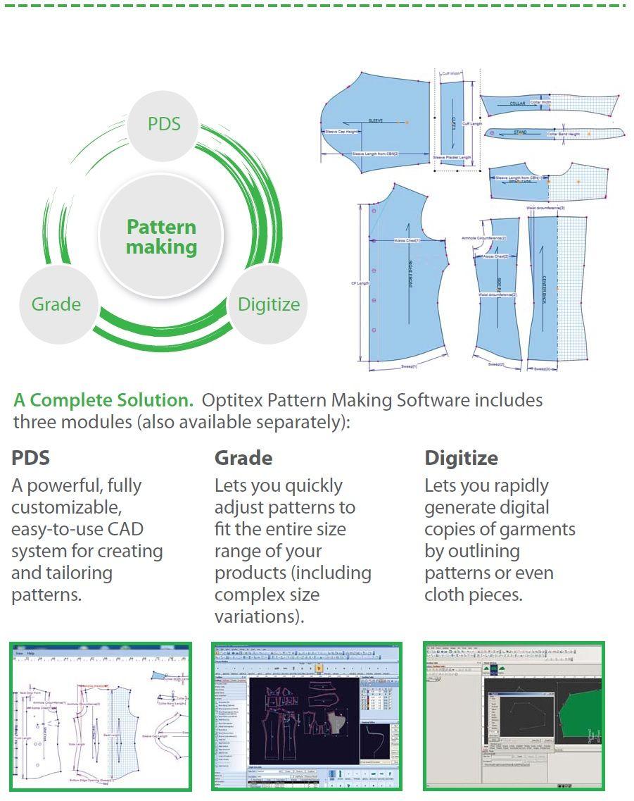 Optitex professional patternmaking software Pattern