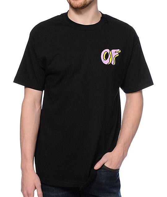 75b06026 Odd Future OF Donut Black T-Shirt | Wishlist | Shirts, Odd future, T ...