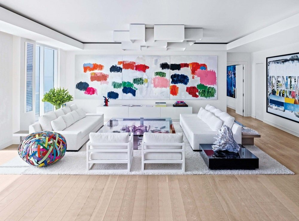 Contemporary Living Room In Hollywood, FL...Love ART