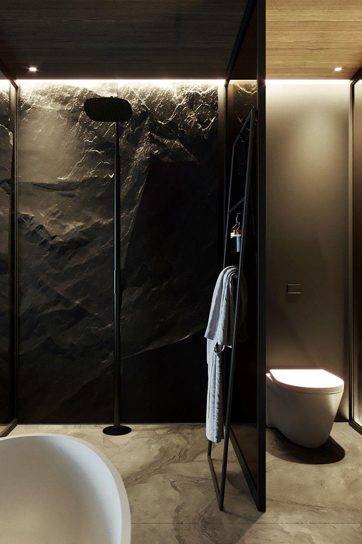 Rainshower And Tub From Bycocoon Com Black Rain Shower Designer Bathroom Luxury Bathroom L Black Faucet Bathroom Modern Bathroom Modern Bathroom Design
