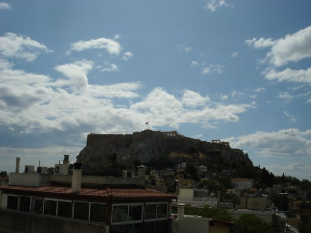 The view from our balcony to The Acropolis, Athens Greece 2009