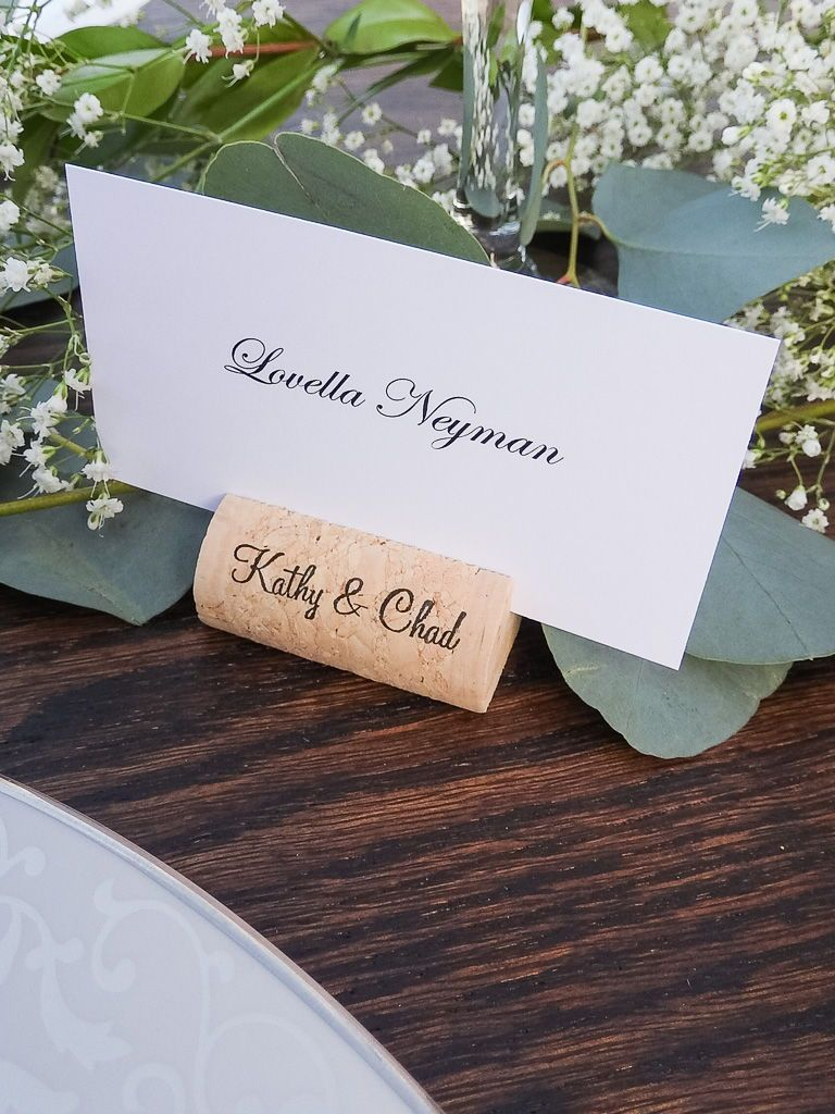 Wine Cork Place Card Holders Cork Card Holder Personalized Corks