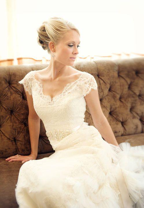 Short Lace Wedding Dress One Shoulder