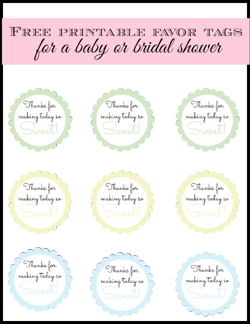picture regarding Free Printable Baby Shower Favor Tags titled Free of charge printable little one shower choose or bridal shower like tags