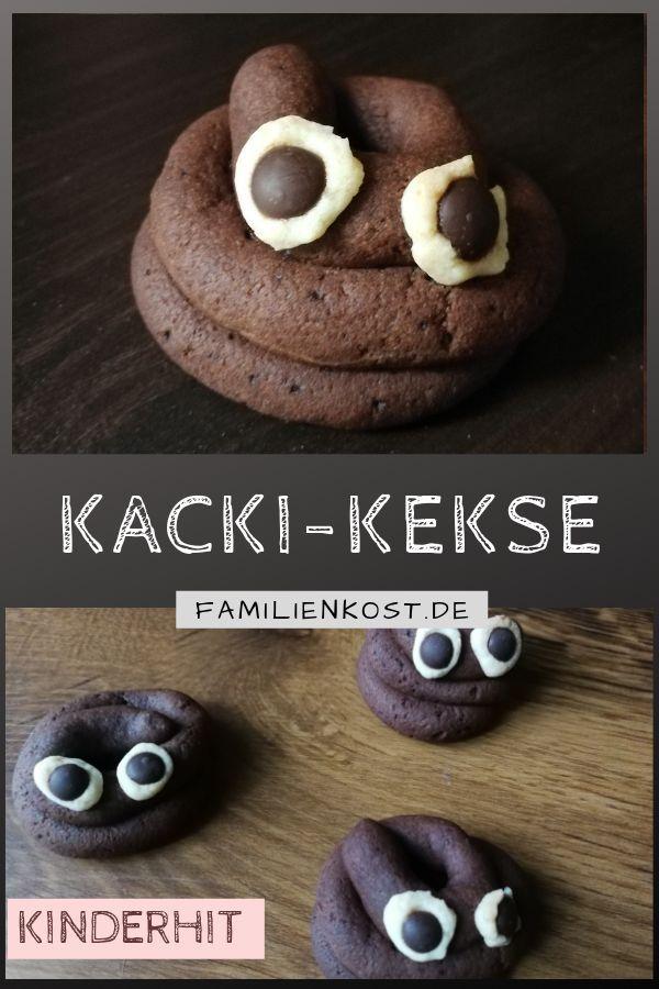 Kacki Kekse als Hundehaufen für Kinder backen