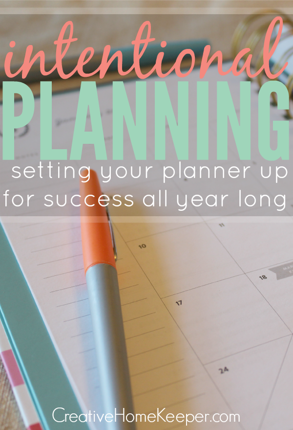 Creative Home Keeper: This detailed planner set up will walk you through step-by-step the process to be truly intentional with your planning this year!