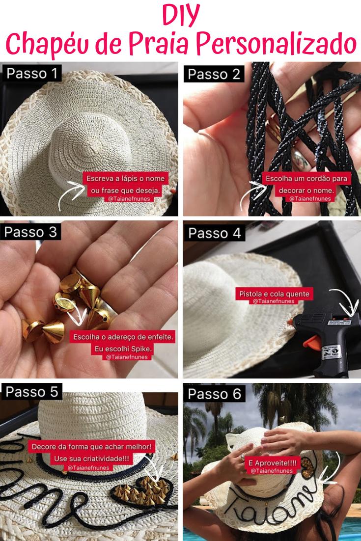 DIY Chapéu de Praia Personalizado - Psiu Noiva  e67b1b1b787