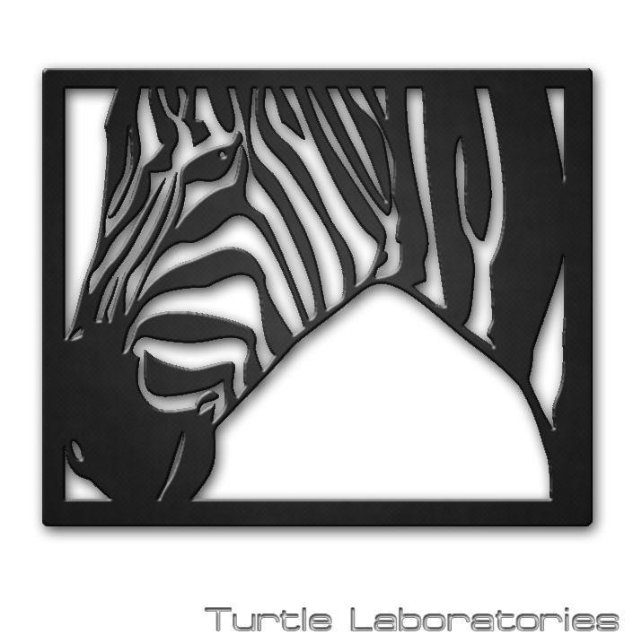 Abstract Zebra Plasma Cut Metal Wall Art Hanging Home Decor