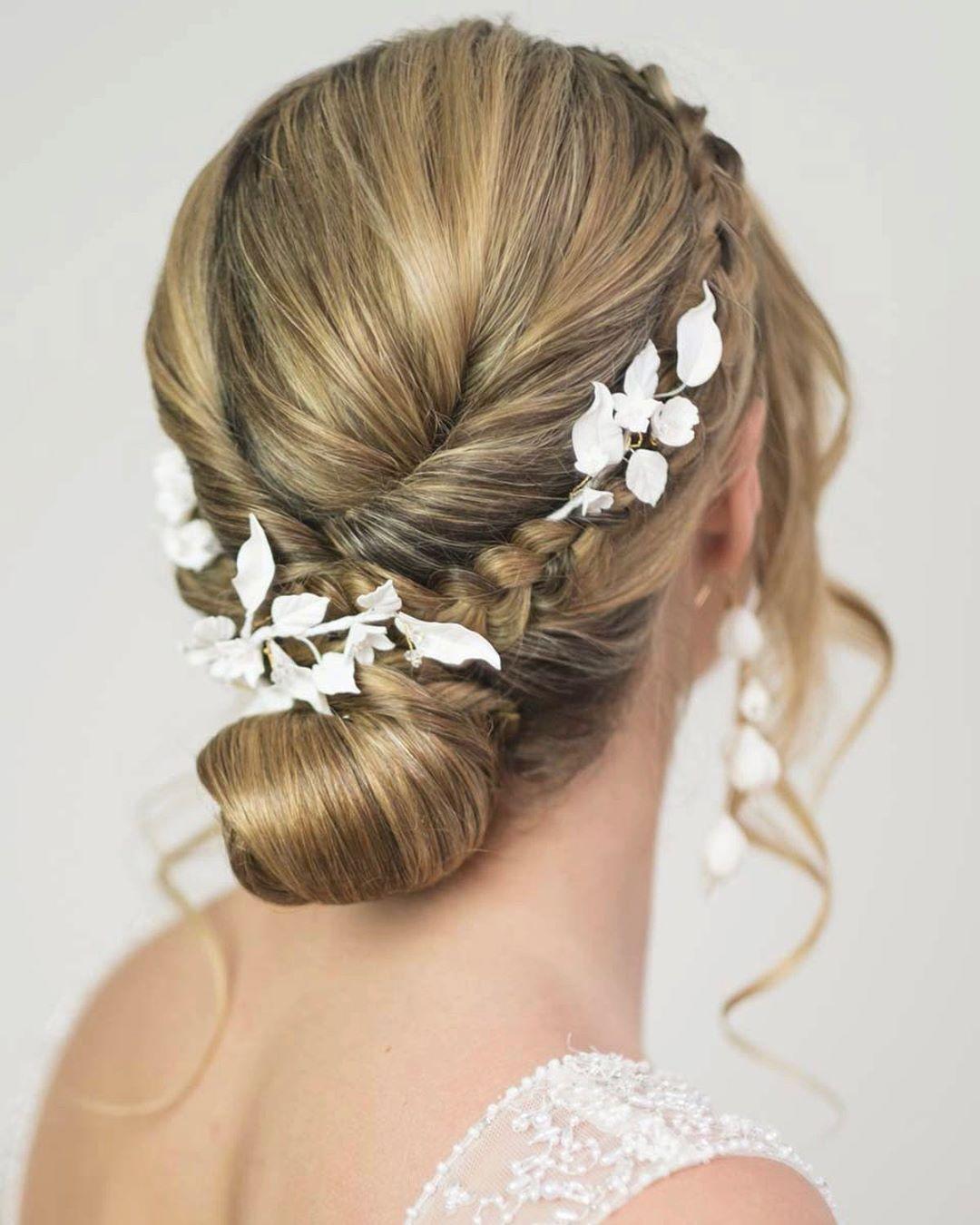 Bridal Hair Accessories And Low Bun Wedding Hair Up In 2020 Wedding Hair Up Bridal Hair Accessories Low Bun Wedding Hair