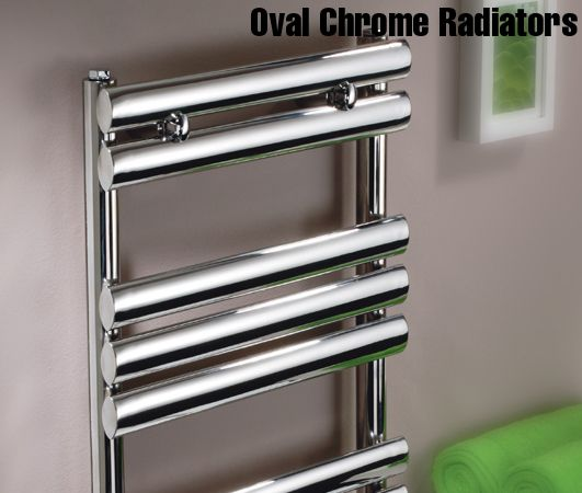 Oval Chrome Heated Towel Rails