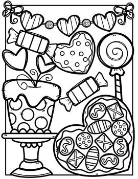 Free Valentine Coloring Pages Made By Creative Clips