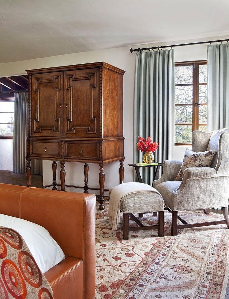 SPANISH COLONIAL Home Architecture And Design Master Bedroom - Table renaissance espagnole pour idees de deco de cuisine