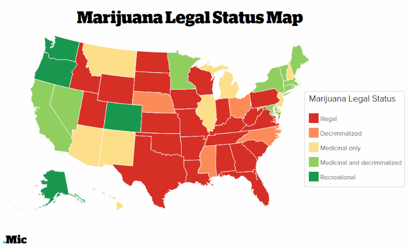 Httpmiccomarticlesfactsaboutmarijuana - Legality of pot in the us map