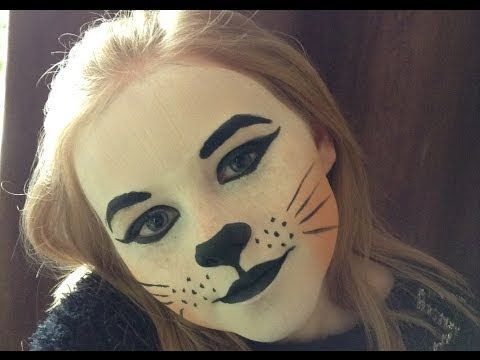 d02291f9d Cute Cat Face Painting | Cute Cat Face Paint / Make-up Tutorial Design -  Easy Guide - Children .