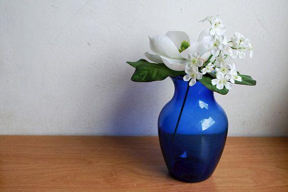 Beautiful Vintage Small Cobalt Blue Vase By Littleshoptreasures On