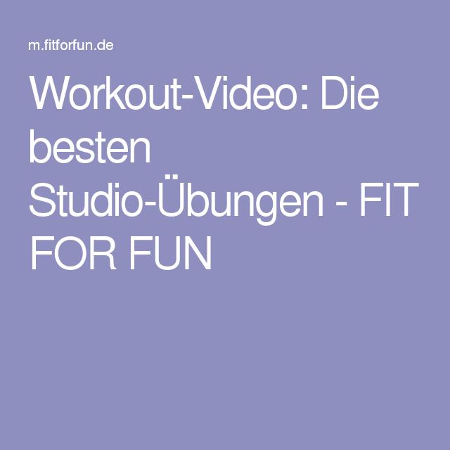 Workout-Video: Die besten Studio-Übungen - FIT FOR FUN