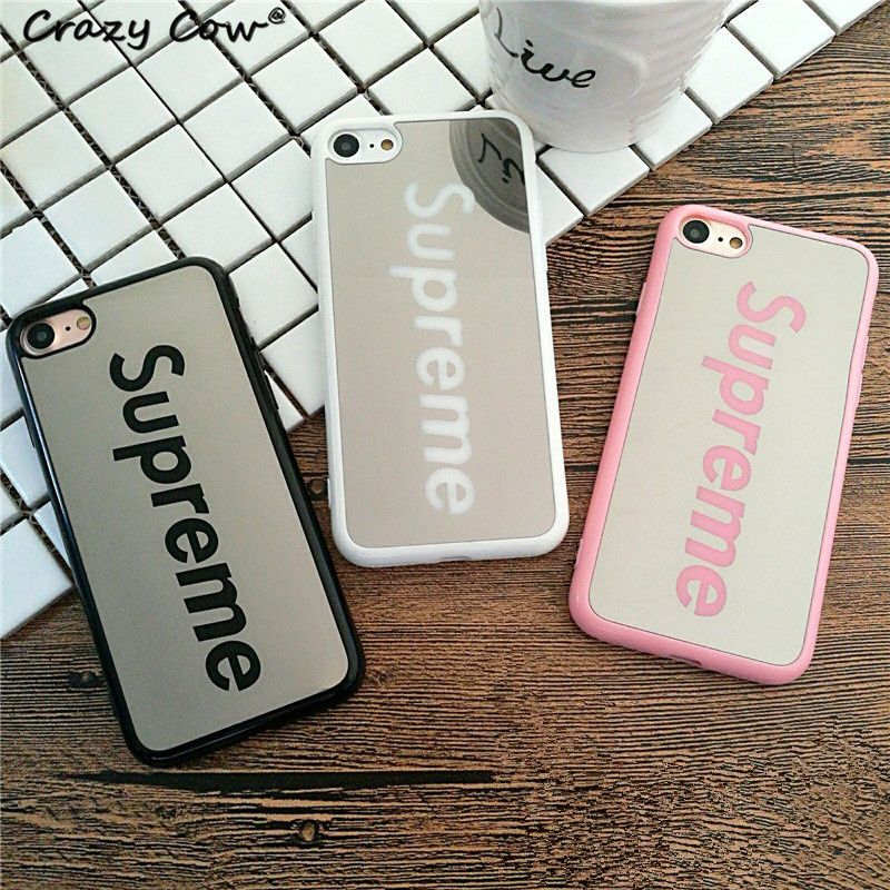 marque de luxe miroir supr me mobile t l phone case pour apple iphone 5 5s se 6 6 s 6 plus 7 7. Black Bedroom Furniture Sets. Home Design Ideas