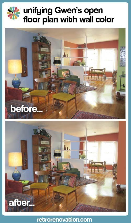 Helping Gwen to unify her open floor plan with her favorite paint ...