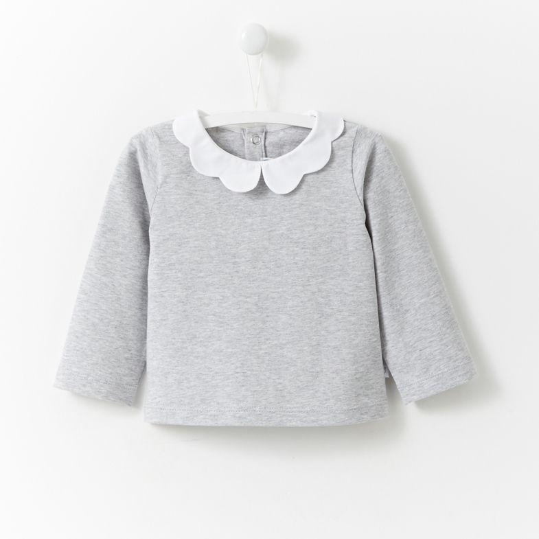 Shirt mit Blütenkragen | Kinder kleidung, Kinderkleidung und
