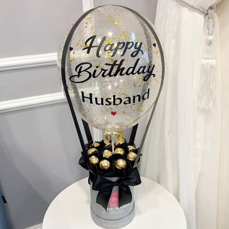 Hot air balloon design anniversary gift or birthday gift