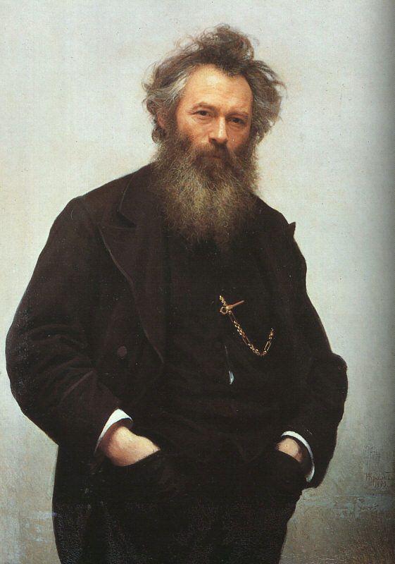 Portrait of Ivan Shishkin by Ivan Kramskoi