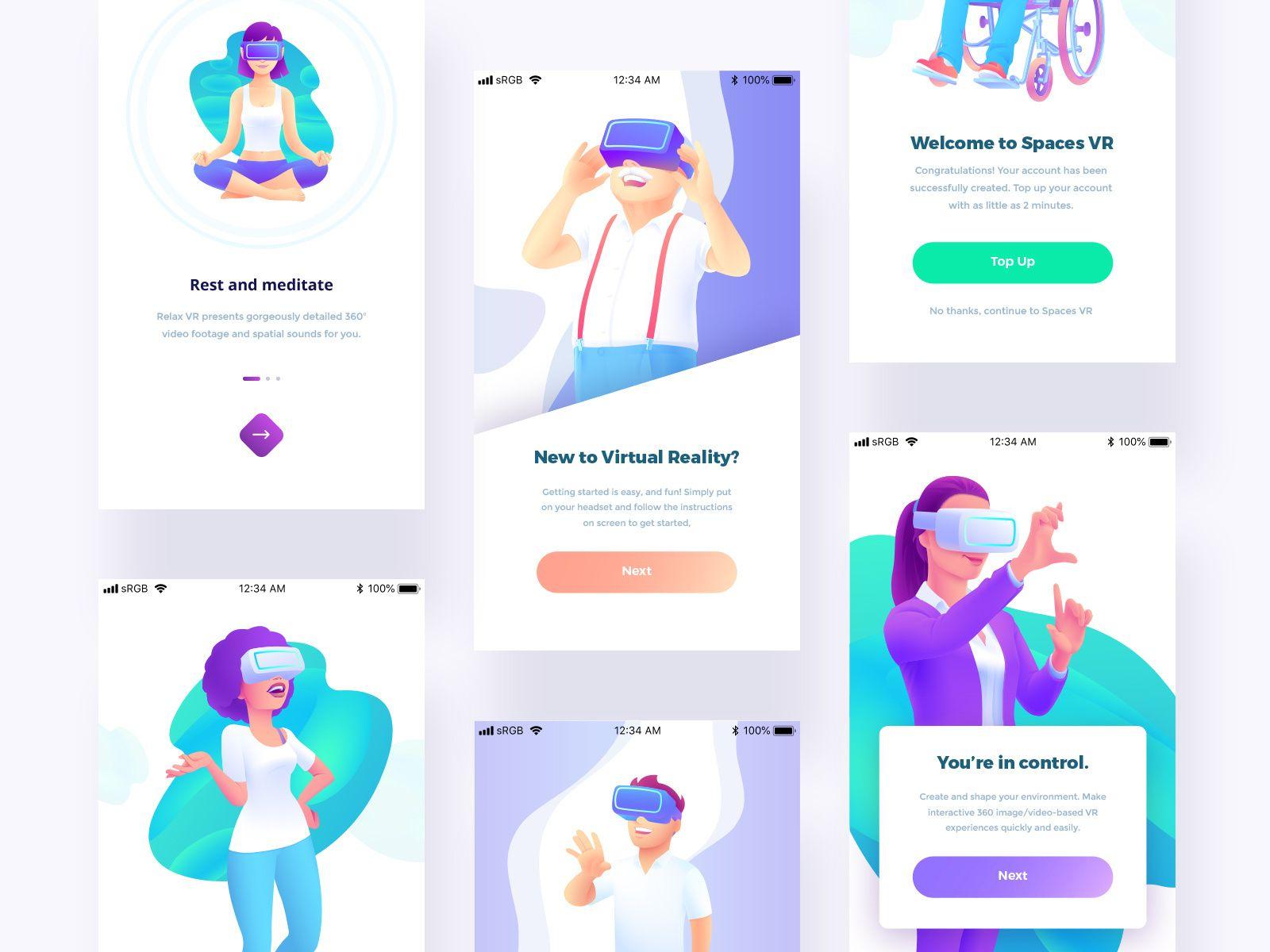 vr lifestyle illustrations | lifestyle illustration, virtual