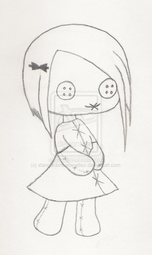 Ragdoll By Xtangledxmarionettex On Deviantart Doll Drawing Voodoo Doll Tattoo Creepy Drawings
