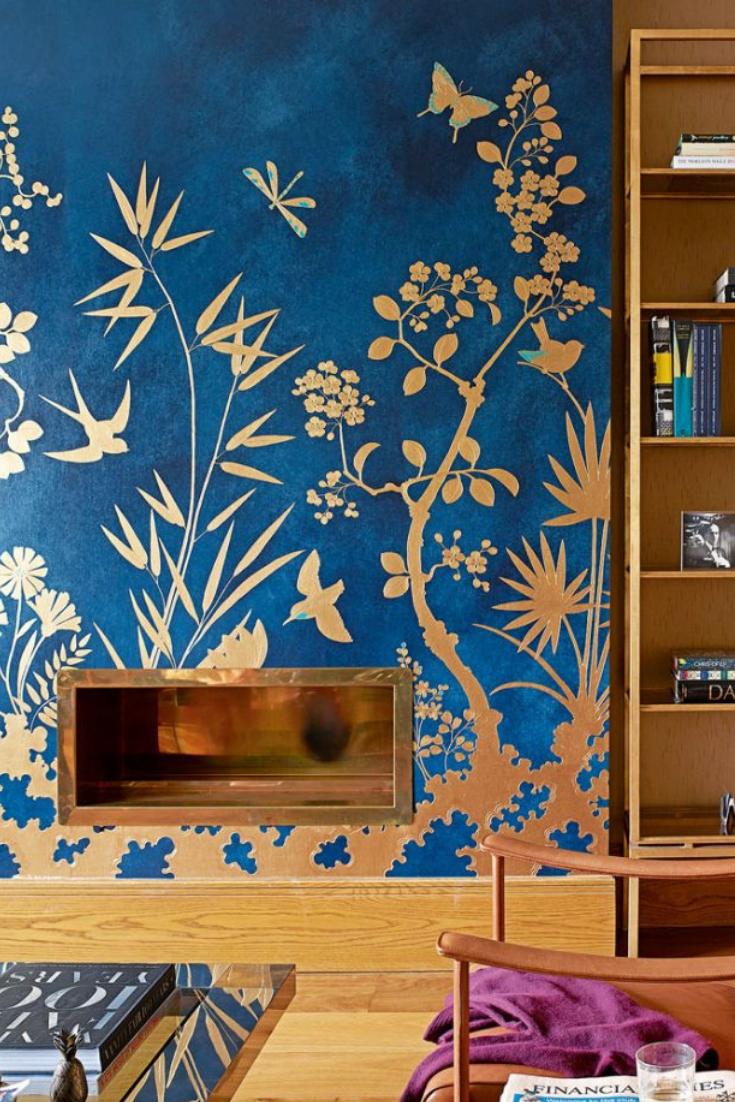 15 idées déco de papier peint pour son salon (avec images)  Papier