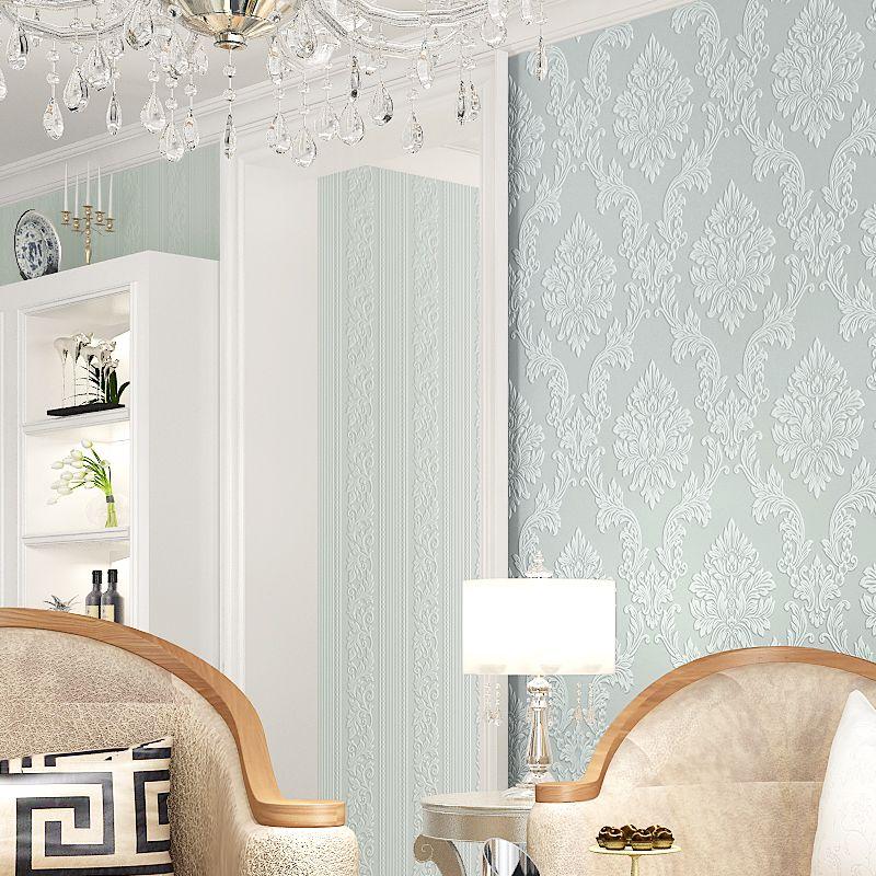 new luxury 3d damask wallpaper fabric embossed wall paper mural roll rh pinterest com