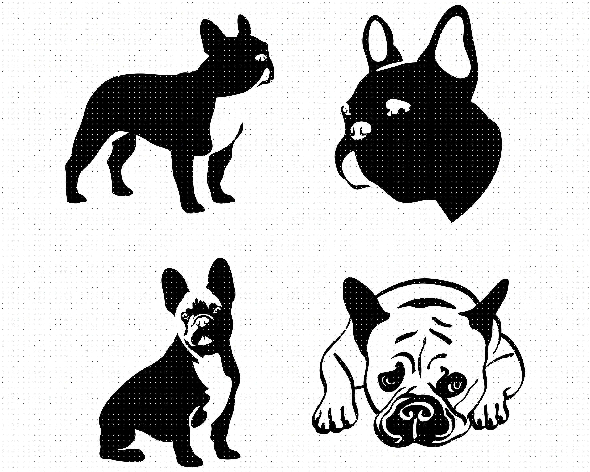 French Bulldog Svg Bundle Frenchie Svg Bulldog Svg Cute Etsy Bulldog Clipart Cute Bulldogs French Bulldog