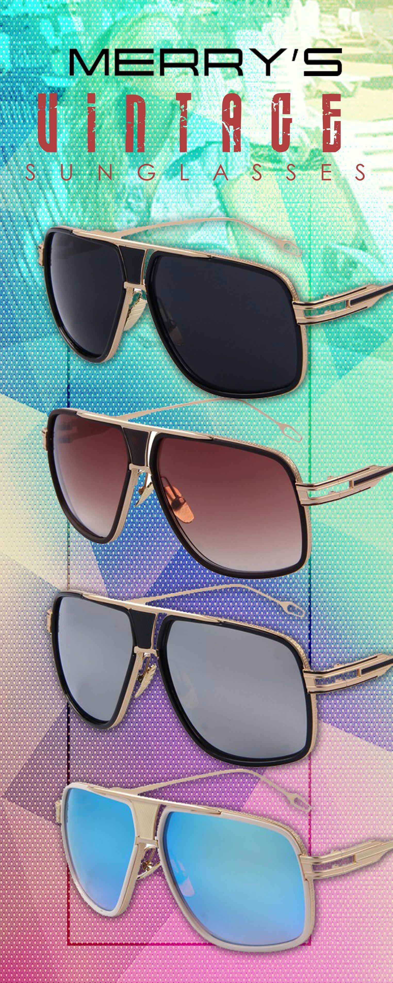4e066089771 Men s UV400 Vintage Big Frame Summer Sun Glasses - merry s Men s affordable  top brand designer style