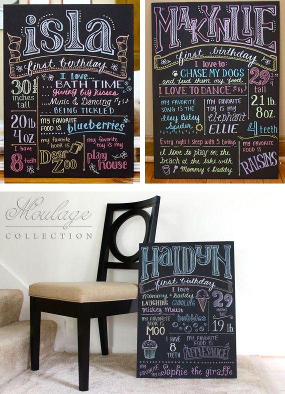 Posters tipogr ficos del primer cumplea os en decoracion y - Decoracion primer cumpleanos ...