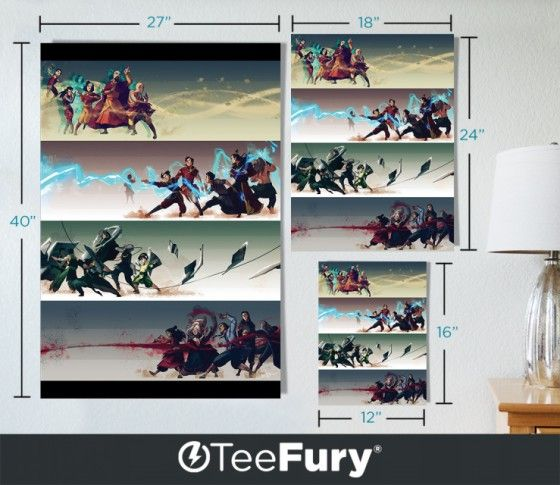 Last Airbender Legend of Korra parody poster | TeeFury