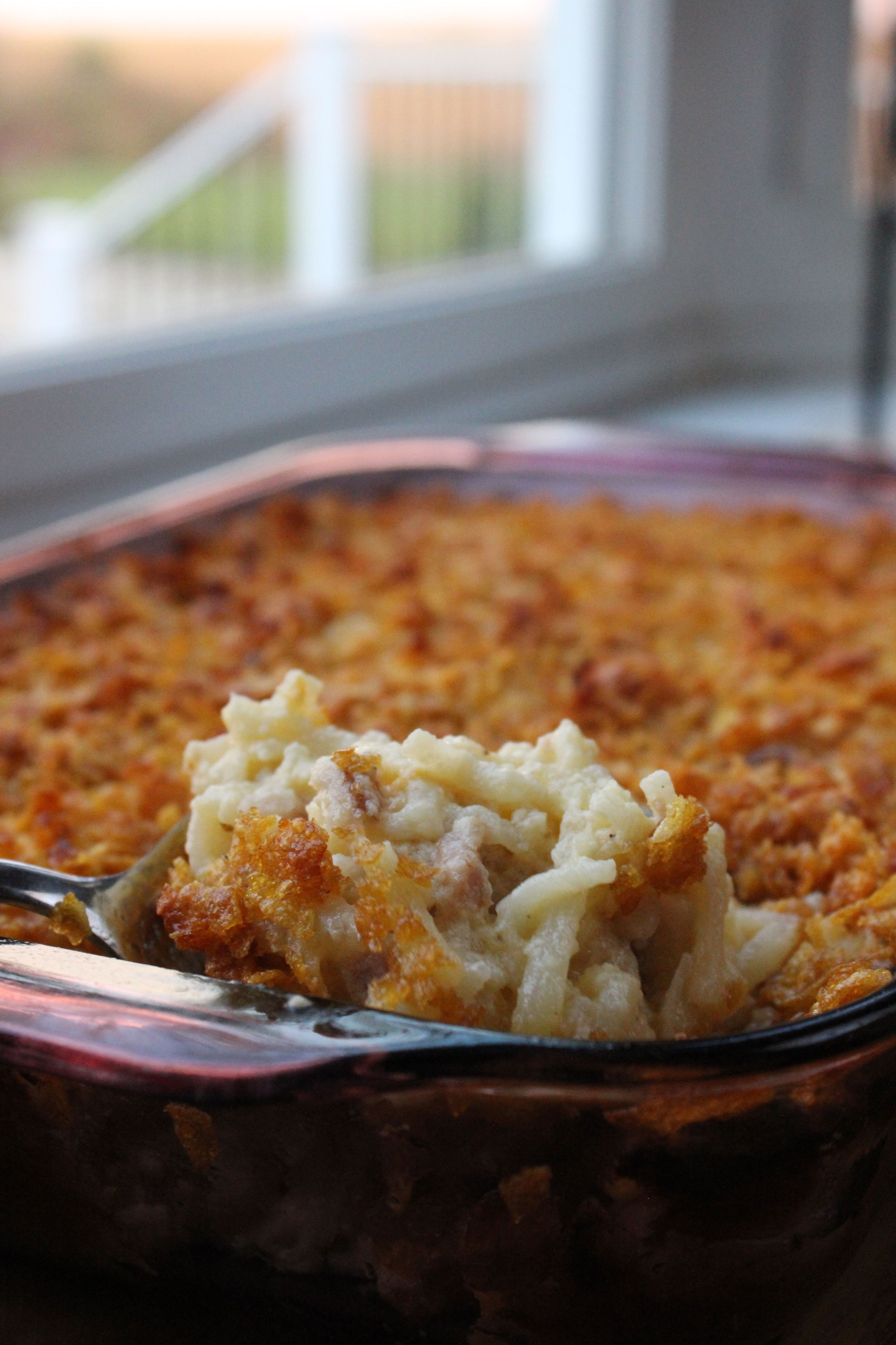 Crunchy-Top Ham & Potato Casserole