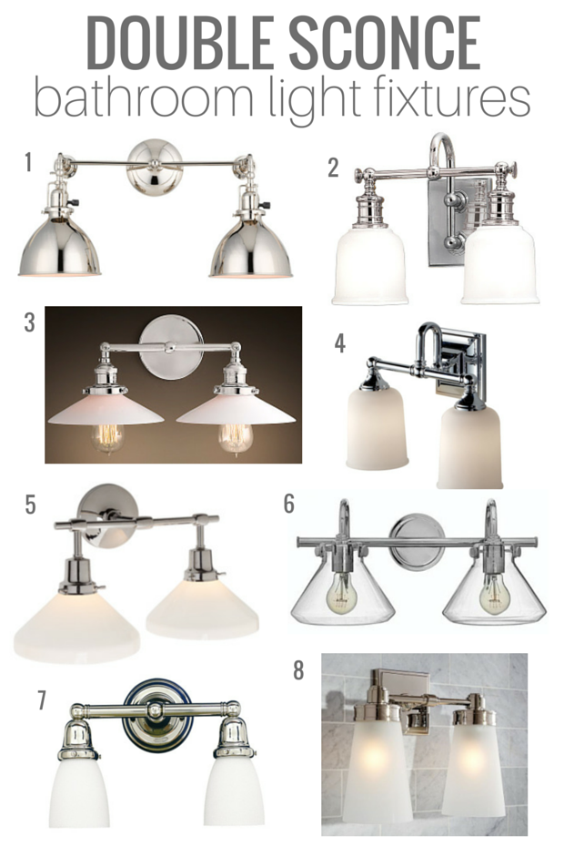 Good Double Sconce Bathroom Lighting | Classic Style, Vintage Nod, Good Quality