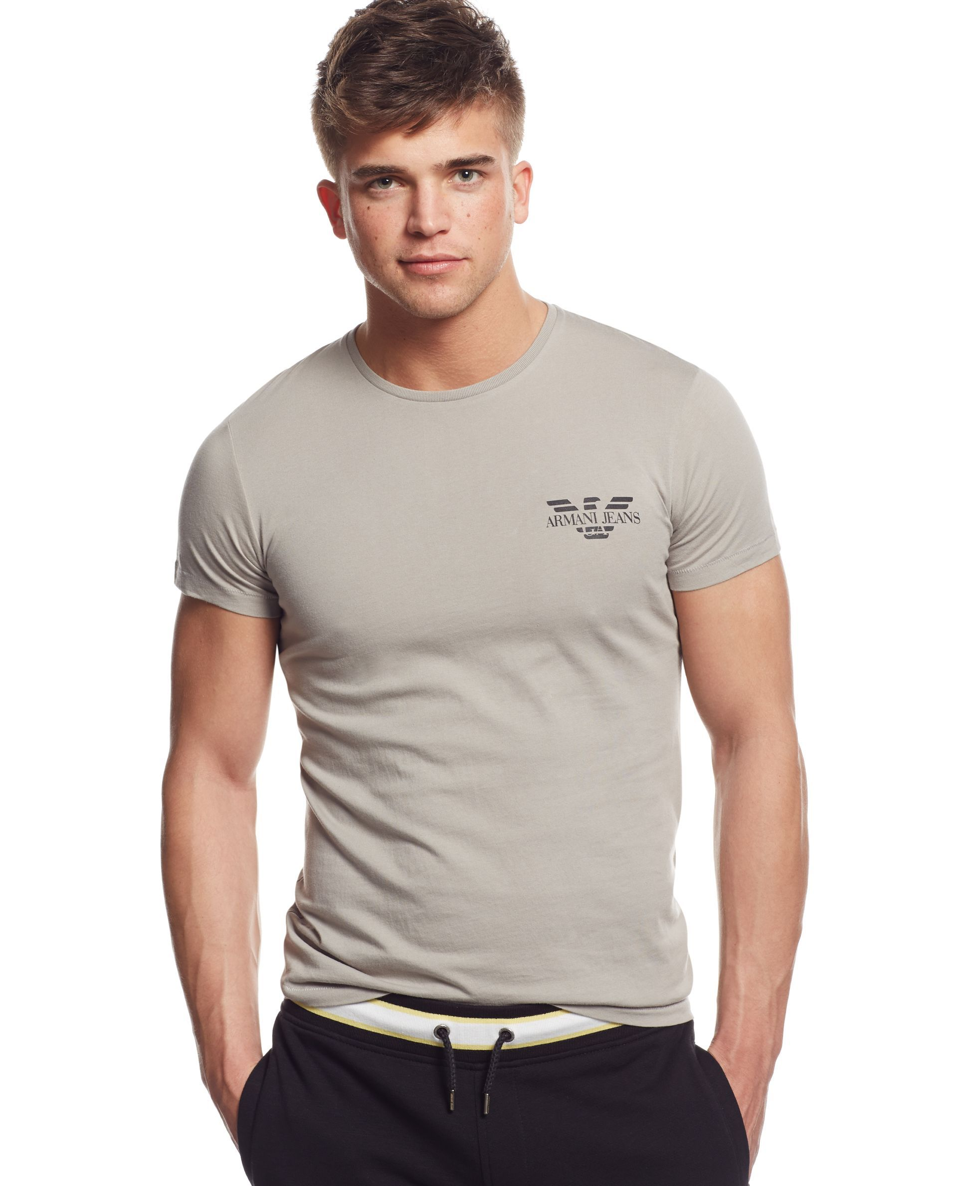 ae20909b Armani Jeans Mens Tipped Short Sleeve Polo Shirt - raveitsafe