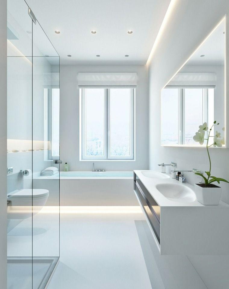Bathroom lights - beautiful light in the bathroom #strandhuis