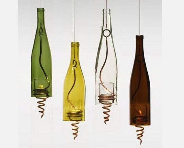 Wine Bottle Lanterns Wine Bottle Lanterns Repurposed Wine