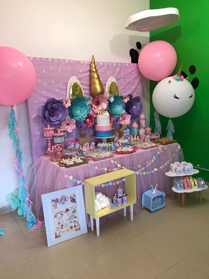 Pin de joelissa en birthday ideas pinterest unicornio - Decoraciones para postres ...