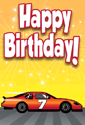 Car Lovers Will Appreciate This Birthday Card That Features An Orange Stock With The Number