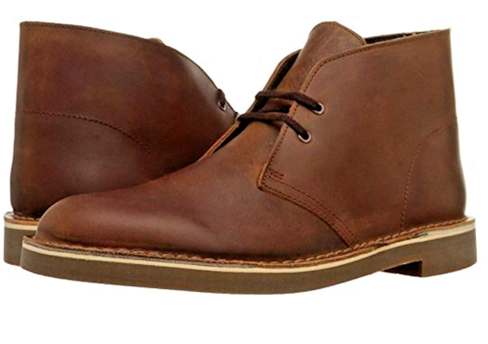 b06bba367a64 Men s CLARKS Leather Boots - Brown Beeswax Chukka -15522 - Lace up - Size  13  ClarksOriginals  AnkleBoots