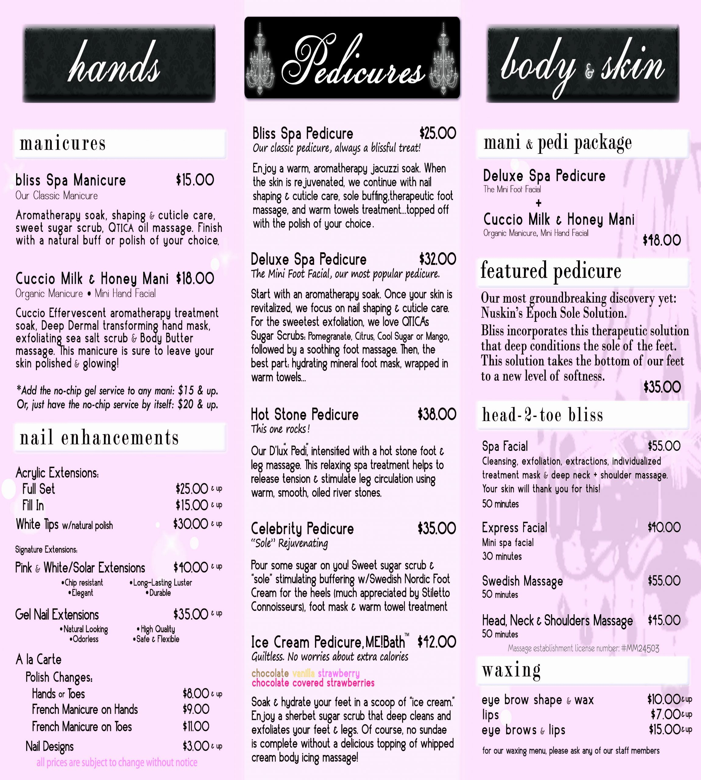 Nail Salon Services Menu Best Of Index Of Cdn 6 2010 661 In 2020