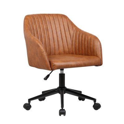 porthos home madison mid back executive chair color brown