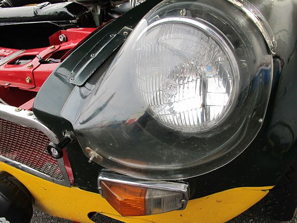 Lucas Sealed Beam Headlights Under Molded Perspex Fairings Cars